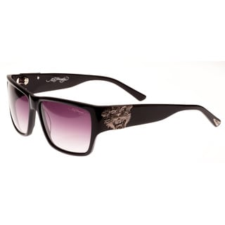Ed Hardy Ehs Tiger Mouth Men's Black Sunglasses