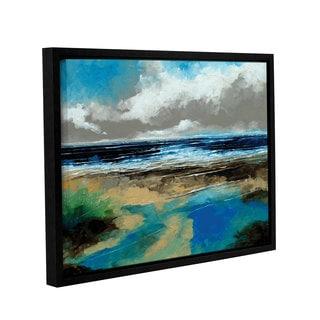 Stuart Roy's ' Seascape I' Gallery Wrapped Floater-framed Canvas