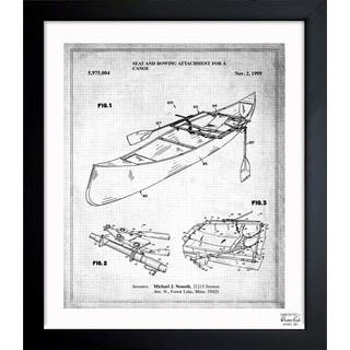 Oliver Gal 'Rowing Attachment For Canoe 1999' Framed Blueprint Art