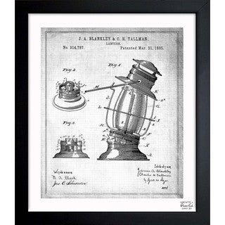 Oliver Gal 'Lantern 1885' Framed Blueprint Art