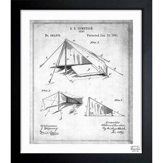 Oliver Gal 'Tent 1891' Framed Blueprint Art