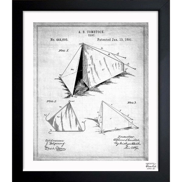 Oliver Gal 'Tent 1891' Framed Blueprint Art