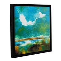 Stuart Roy's ' Seascape II' Gallery Wrapped Floater-framed Canvas