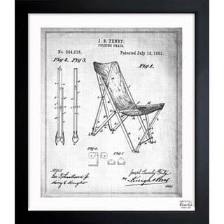 Oliver Gal 'Folding Chair 1881' Framed Blueprint Art