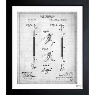 Oliver Gal 'Dental Excavator 1896' Framed Blueprint Art