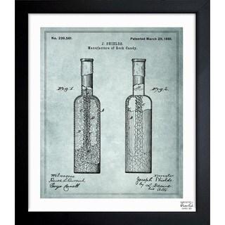 'Manufacture Of Rock-Candy 1881' Framed Blueprint Art