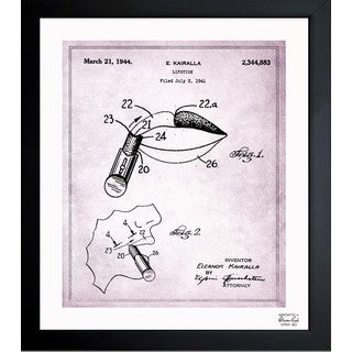 Oliver Gal 'Lipstick 1941' Framed Blueprint Art