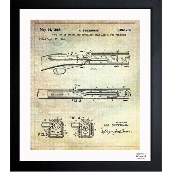 Shop oliver gal m1 carbine 1968 framed blueprint art on sale oliver gal x27m1 carbine 1968x27 framed blueprint art malvernweather
