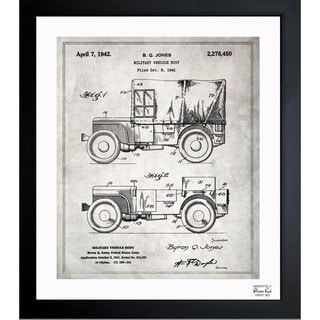Link to Oliver Gal 'Jeep Willys 1942' Framed Blueprint Art Similar Items in Canvas Art