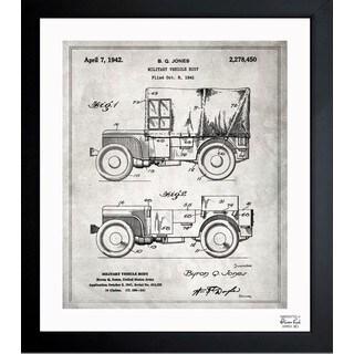 'Jeep Willys 1942' Framed Blueprint Art