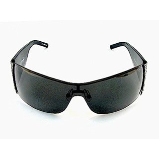 Ed Hardy EHS-009 Black Solid Grey Tiger Running Sunglasses
