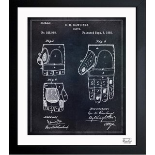 'Rawlings Baseball Mitt' Framed Blueprint Art