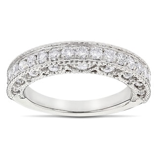 Luxurman 14k Gold 1ct TDW Diamond Milgrain and Filigree Diamond Ring (G-H, SI1-SI2)
