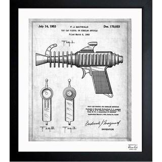Oliver Gal 'Toy Cap Pistol 2 1953' Framed Blueprint Art