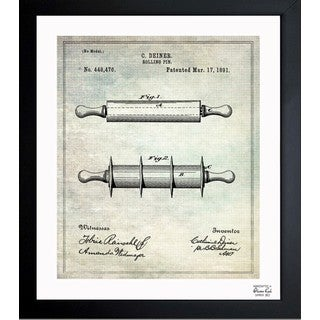 Oliver Gal 'Rolling-Pin 1891' Framed Blueprint Art