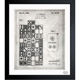 'Set Of Dominos 1924' Framed Blueprint Art