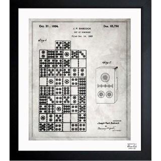 Oliver Gal 'Set Of Dominos 1924' Framed Blueprint Art