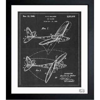 Oliver Gal 'Toy Glider 1940' Framed Blueprint Art