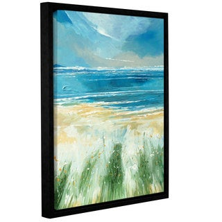 Stuart Roy's ' Summer Sea And Beach' Gallery Wrapped Floater-framed Canvas