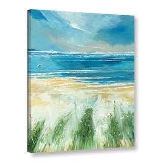 Stuart Roy's ' Summer Sea And Beach' Gallery Wrapped Canvas