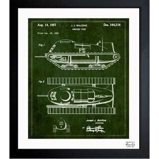 'Armored Tank 1951' Framed Blueprint Art