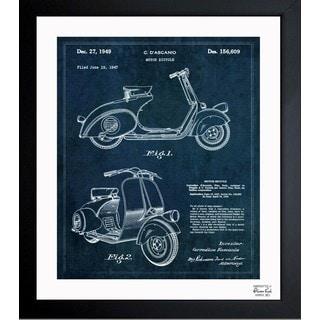 Oliver Gal 'Motor Scooter 1949' Framed Blueprint Art