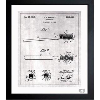 Oliver Gal 'Toothbrush 1938' Framed Blueprint Art