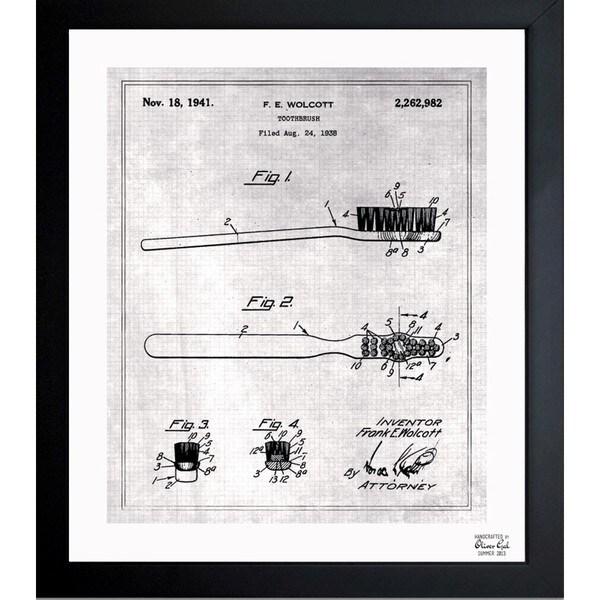 Shop oliver gal toothbrush 1938 framed blueprint art free oliver gal x27toothbrush 1938x27 framed blueprint art malvernweather Gallery