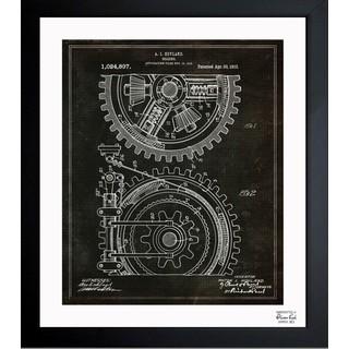 Oliver Gal 'Gearing 1912' Framed Blueprint Art