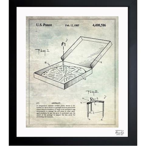 Oliver Gal 'Pizza Box Saver 1985' Framed Blueprint Art