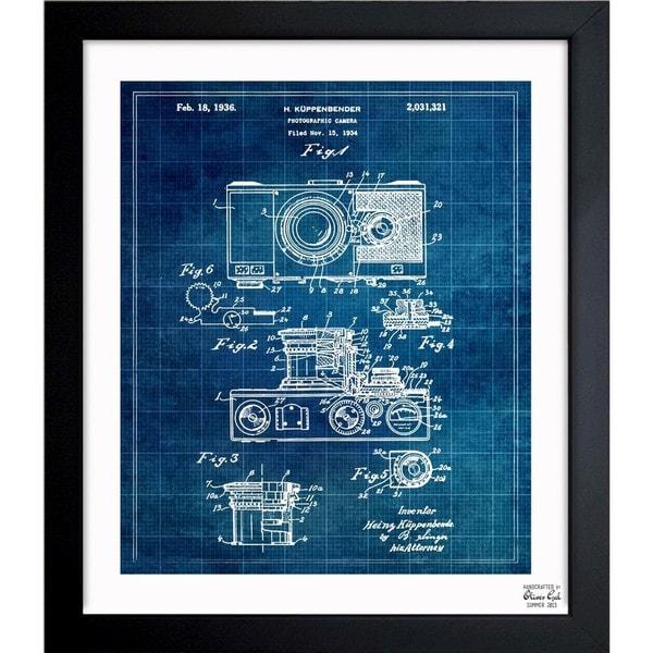 Shop oliver gal kuppenbender camera 1936 framed blueprint art oliver gal x27kuppenbender camera 1936x27 framed blueprint art malvernweather Images