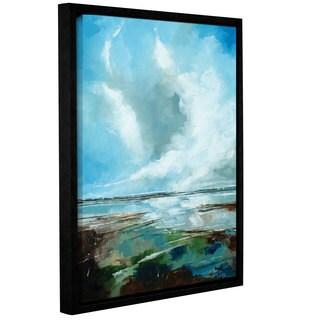 Stuart Roy's ' Framed Seascape' Gallery Wrapped Floater-framed Canvas