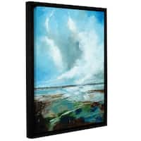 Stuart Roy's ' Framed Seascape' Gallery Wrapped Floater-framed Canvas