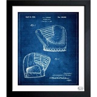 'Baseball Mitt 1945' Framed Blueprint Art