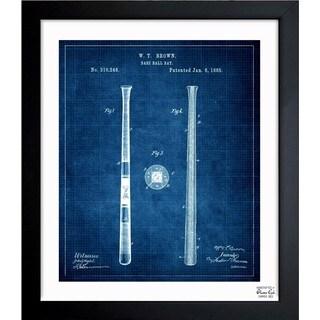 Oliver Gal 'Baseball Bat 1885' Framed Blueprint Art