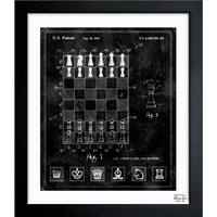 Oliver Gal 'Chess Game and Method 2000' Framed Blueprint Art