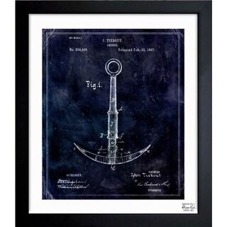 Oliver Gal 'Anchor 1887' Framed Blueprint Art