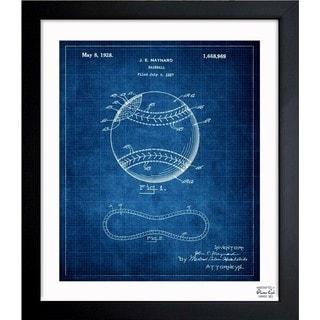 Oliver Gal 'Baseball, 1928' Framed Blueprint Art