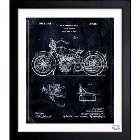 Oliver Gal 'Harley, 1928' Framed Blueprint Art