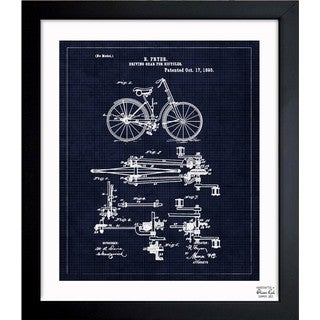 'Fryer, Driving Gear For Bicycle, 1893' Framed Blueprint Art