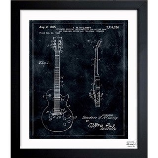Link to Oliver Gal 'Gibson Les Paul Guitar, 1955' Framed Blueprint Art Similar Items in Canvas Art