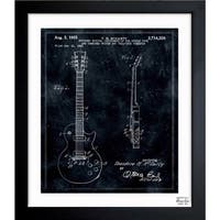 Oliver Gal 'Gibson Les Paul Guitar, 1955' Framed Blueprint Art