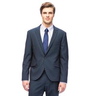 West End Men's Slim Fit Navy Peak Lapel 1-button Suit