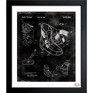 Oliver Gal 'Michael Jackson Moonwalk Shoes 1993' Framed Blueprint Art