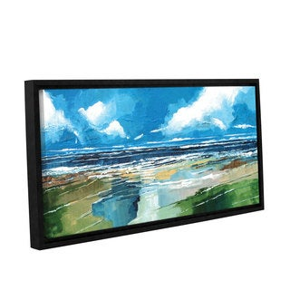 Stuart Roy's ' Rectangular Sea View II' Gallery Wrapped Floater-framed Canvas
