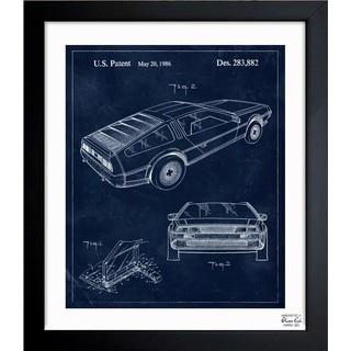 Oliver Gal 'Delorean, 1986' Framed Blueprint Art