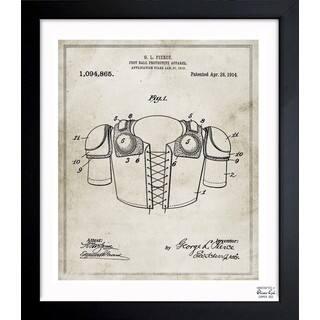 Oliver Gal 'Foot-ball protective apparel 1914' Framed Blueprint Art