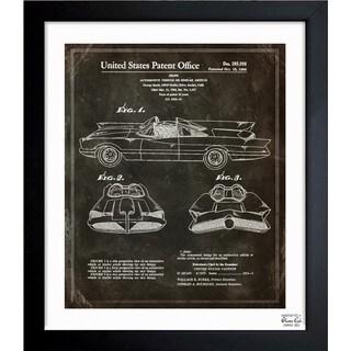 Oliver Gal 'Batmobile, 1966' Framed Blueprint Art