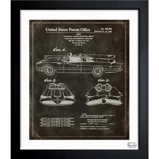Oliver Gal 'Batmobile, 1966' Framed Blueprint Art
