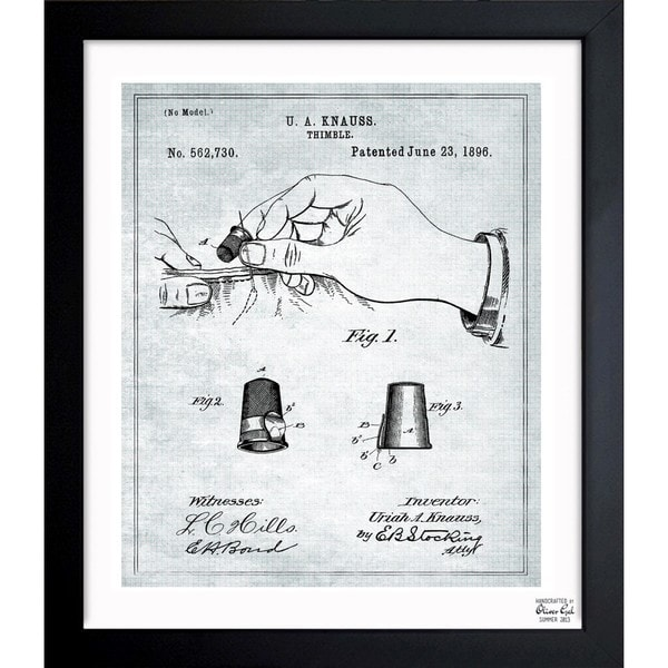 Oliver Gal 'Thimble 1896' Framed Blueprint Art